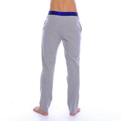 PS 極簡螢光腰頭健身型男修身長褲(藍灰色)