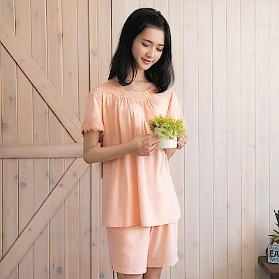 華歌爾睡衣 睡眠研究系列 薄荷紗 M-L 短袖睡衣褲裝((橘)