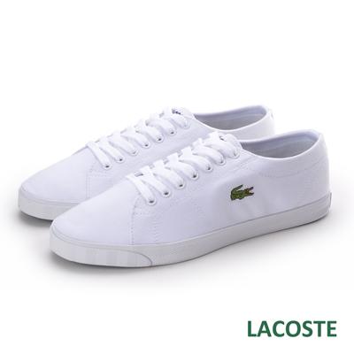 LACOSTE-marcel-男用休閒帆布鞋-白色
