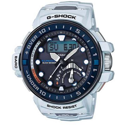 G-SHOCK 太陽能電波 潮汐航海概念運動錶(GWN-Q1000-7A)-白/48mm