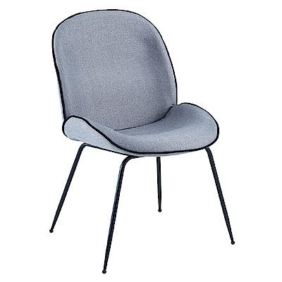 AS-狄克灰色布面餐椅-48x60x83cm