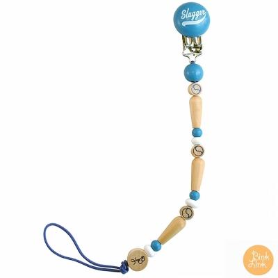 Bink Link 藍色時尚繽紛串珠奶嘴鍊夾
