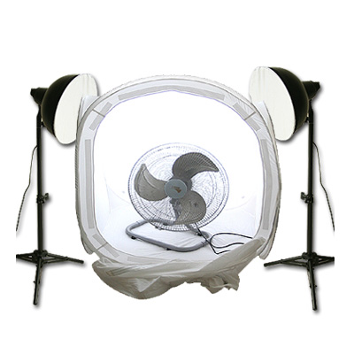 90cm-攝影柔光棚-10吋省電雙燈組