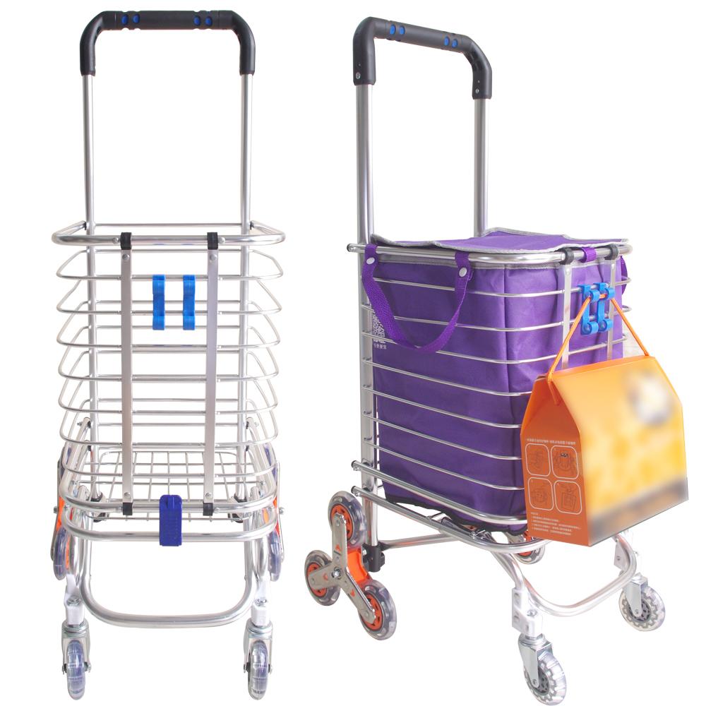風火8輪鋁合金爬樓梯購物車一台+送伸縮束繩一條