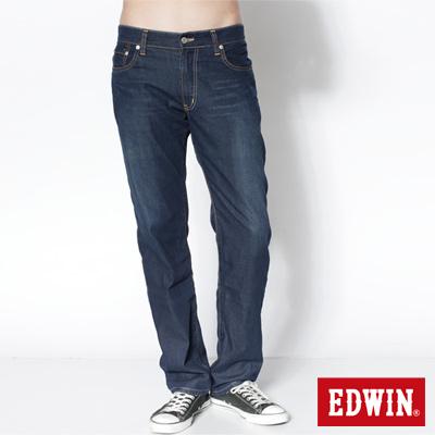 EDWIN 大尺碼COOL RELAX中直筒牛仔褲-男款(中古藍)