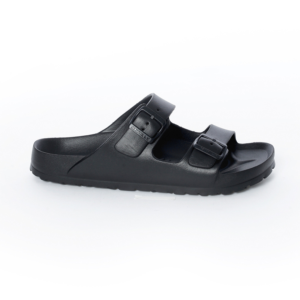 【AIRWALK】休閒雙扣環室內外AB拖鞋-黑色