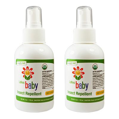 《美國USDA有機認證》Lafe's Organic有機嬰兒防蚊液x2瓶