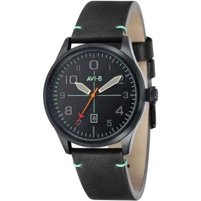 AVI-8 飛行錶 FLYBOY 飛行男孩時尚手錶-黑/43mm