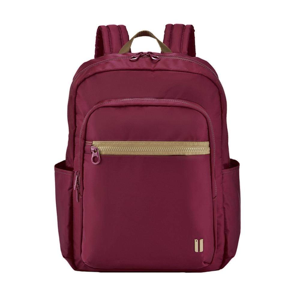 【SUMDEX】時尚彩色商務休閒 14吋肩背電腦包 NON-530RD(石榴紅)