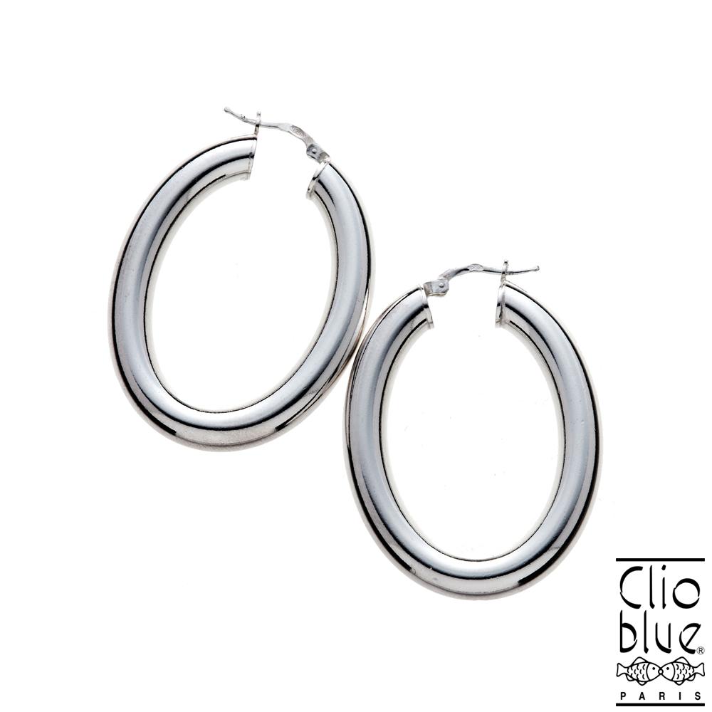 【Clio blue】簡單大橢圓耳環