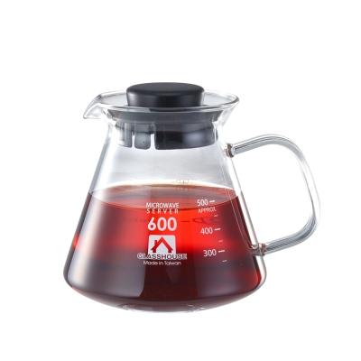 Glasshouse 台製耐熱玻璃壺/咖啡壺/花草茶壺600ML(B600)