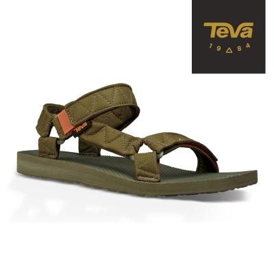 TEVA 美國-男 Original Puff 經典緹花織帶涼鞋 (橄欖綠)