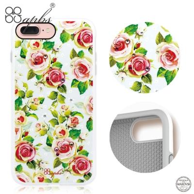 apbs iPhone8/7 Plus 5.5吋施華彩鑽耐衝擊手機殼-力與美系列...