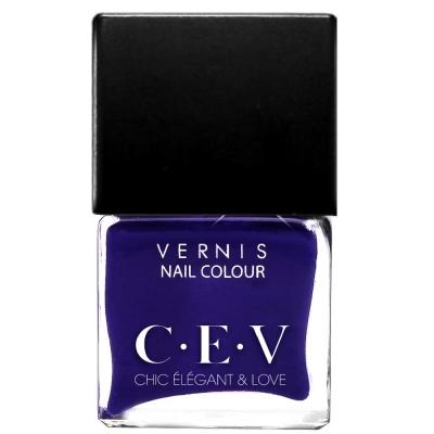 CEV輕奢指甲油 LC04藍色狂想 15mL黑蓋