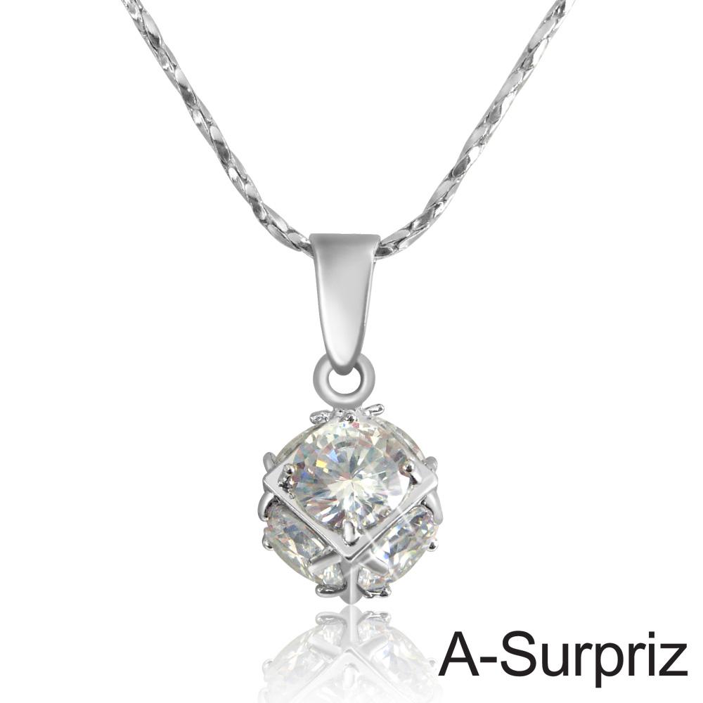 A-Surpriz 幸運晶球鋯石項鍊