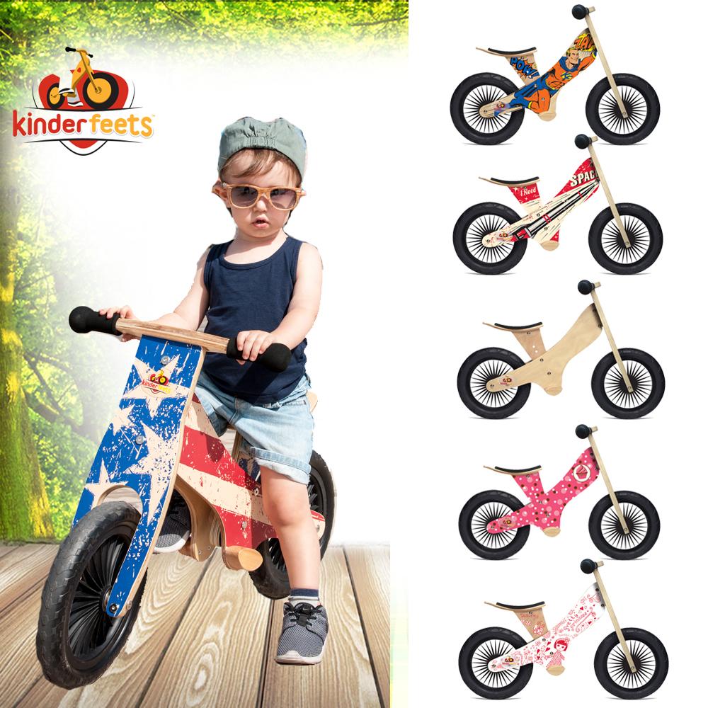 Kinderfeets 美國木製平衡滑步教具車_英雄聯盟 (六色)