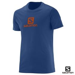 Salomon 休閒短袖T恤 男 午夜藍