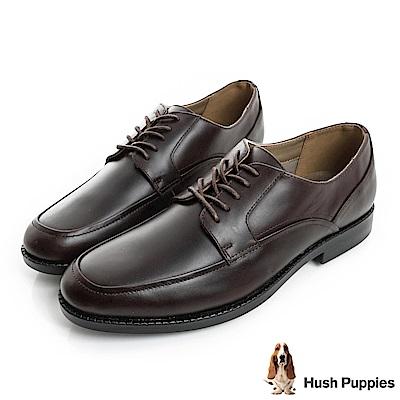 Hush Puppies BLOODHOUND防潑水正裝皮鞋-深棕