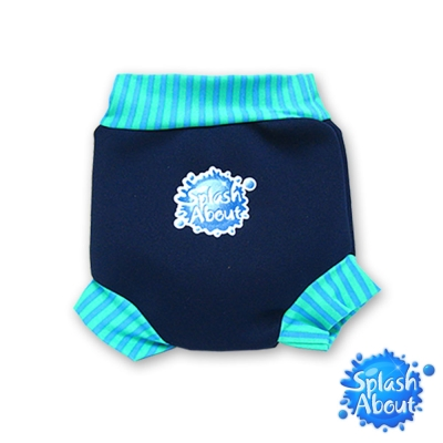 Splash About 潑寶游泳尿布褲 - 海軍藍 / 珊瑚綠