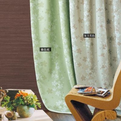 布安於室-花葉單層遮光穿管式窗簾-落地窗(寬270*高210cm)