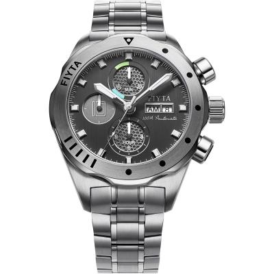 FIYTA 飛亞達 航太鈦合金機械紀念錶(GA8602.WBW)-黑色/44mm