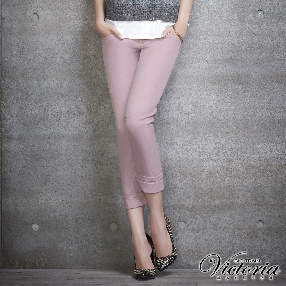 Victoria 3D剪裁男友色褲-女-淺紫