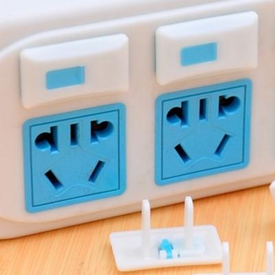 兒童防觸電源插座安全保護蓋(2孔6入裝)2盒