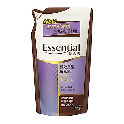 逸萱秀 瞬效美型抗亂翹洗髮乳補充包 (550ml)