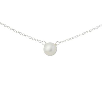 Dogeared 美國品牌優雅氣質純銀項鍊-白珍珠款