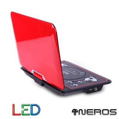 NEROS 10.1吋8合一美麗世界LED移動式DVD(玫瑰紅)
