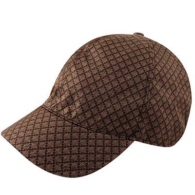 GUCCI-巧克力色菱格紋Kids系列棒球帽-S