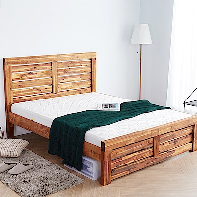 H&D 奧瑞鄉村系列實木雙人房間2件組 (寬158X深200X高110cm)