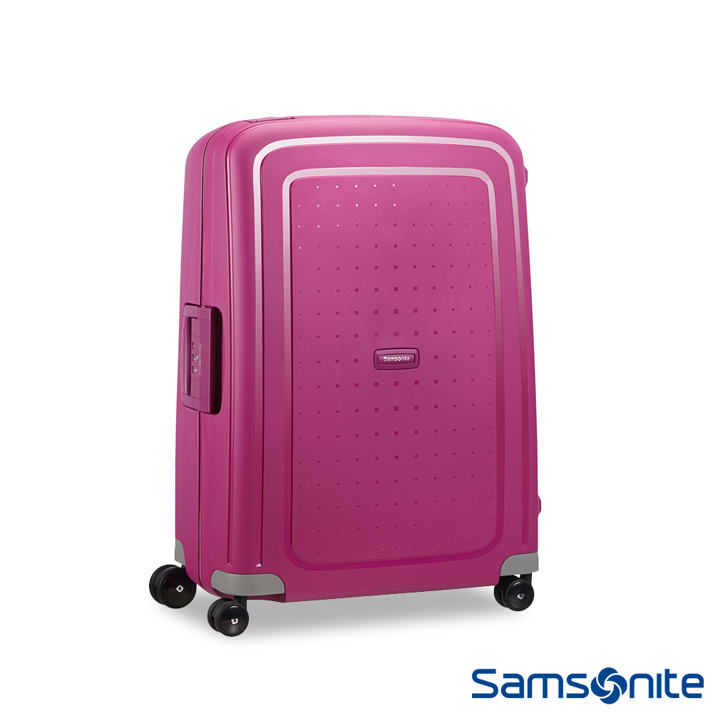 Samsonite 新秀麗 25吋S CURE四輪PP硬殼TSA扣鎖行李箱(紫紅)