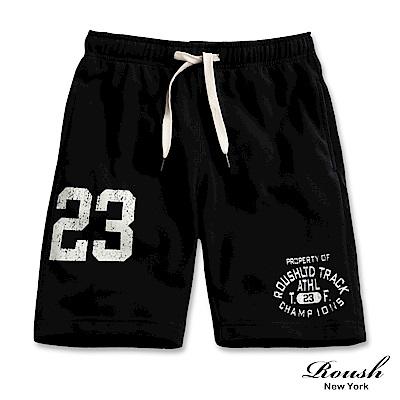 Roush 美式23膠印棉質短褲(3色)