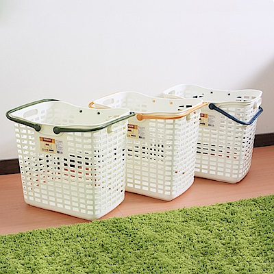 HOUSE 台灣製 家家好洗衣籃 2入 (隨機色)