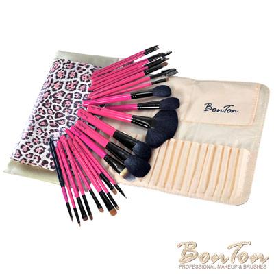 BonTon 套刷組合 24支入甜心粉豹紋專業刷組 B24-1