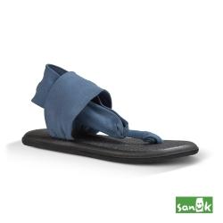 SANUK 素面綁帶人字涼鞋-女款(海軍藍)