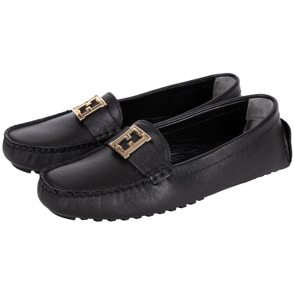 FENDI 防刮牛皮休閒鞋(黑色)