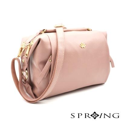 SPRING-Aurora歐若拉斜背枕頭包-粉