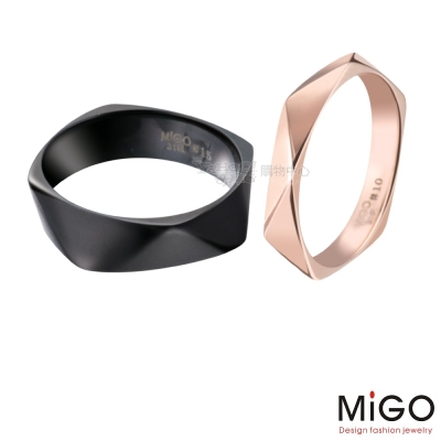 MiGO-飛舞對戒(黑&玫瑰)