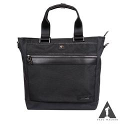Paul Walker 新時尚系列拉鍊手提斜背包 黑迷彩