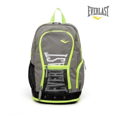 EVERLAST 拳擊運動品牌-多功能後背包-灰/黃