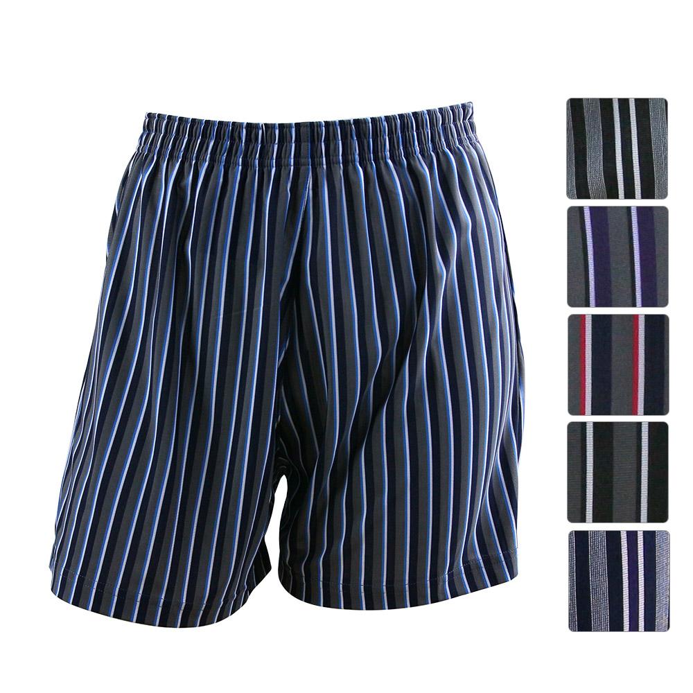 男內褲 竹炭條紋四角內褲(超值3入) 源之氣