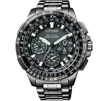 CITIZEN PROMASTER鈦領航雙時區計時錶(CC9025-51E)-黑/47mm