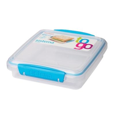 【Sistema】紐西蘭進口外出三明治保鮮盒450ml