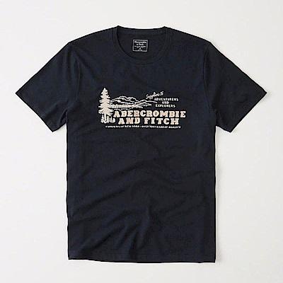 AF a&f Abercrombie & Fitch 短袖 T恤 藍色 0603