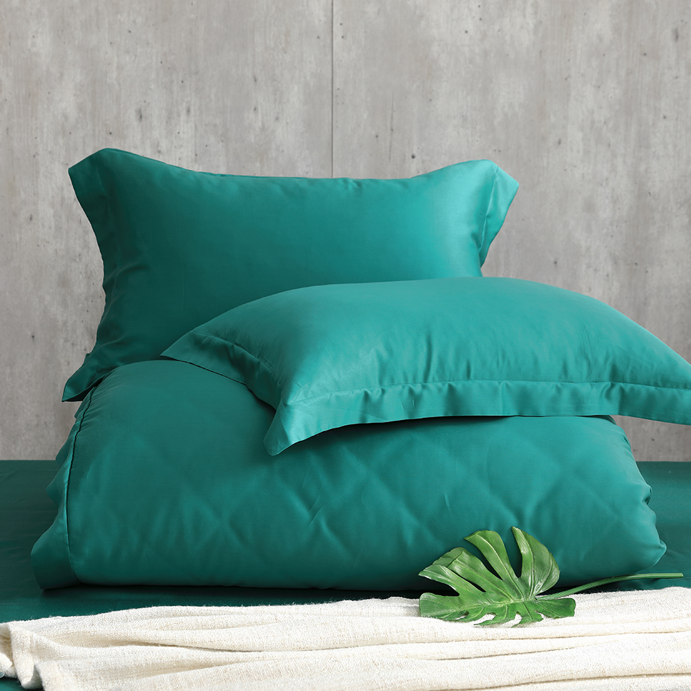 Cozy inn 海洋綠 加大四件組 100%萊賽爾天絲兩用被套床包組