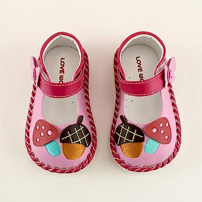 愛的世界 蘑菇寶寶鞋/學步鞋-台灣製-