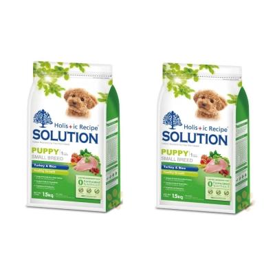 耐吉斯SOLUTION 幼犬 火雞肉田園蔬菜配方1.5kg (2包組)