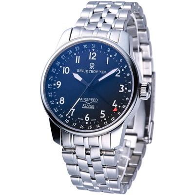 REVUE THOMMEN 梭曼 AIRSPEED XLARGE機械錶-黑/40mm